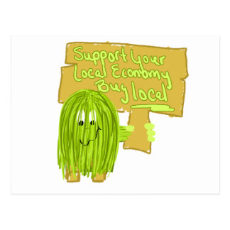 Olive support your local economy postcard