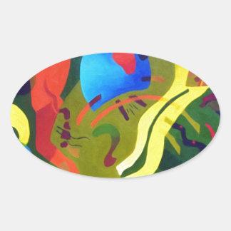Olive Suspension Oval Sticker