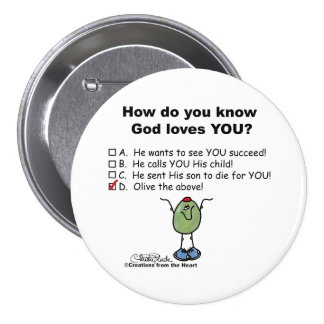 Olive the Above! Pinback Button