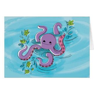 Olive-the-Octopus Greeting Card