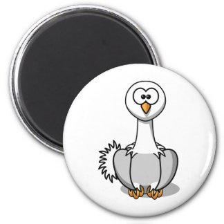 Olive the Ostrich Cute Cartoon Bird Magnet