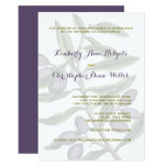Olive Tree Branch Wedding | Green Purple Card