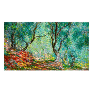 Olive Tree Wood in the Moreno Garden, 1884 art Business Card