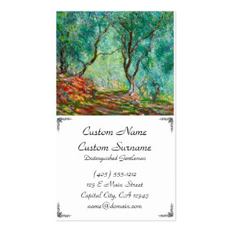 Olive Tree Wood in the Moreno Garden, 1884 Business Card