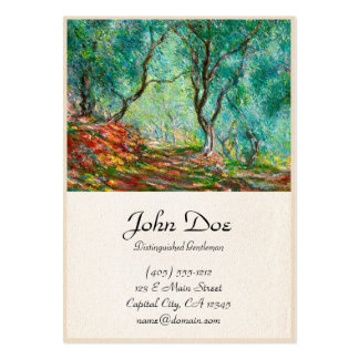 Olive Tree Wood in the Moreno Garden, 1884 Large Business Card