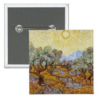 Olive Trees 1889 oil on canvas Pinback Button
