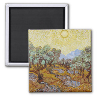 Olive Trees, 1889 (oil on canvas) Magnets