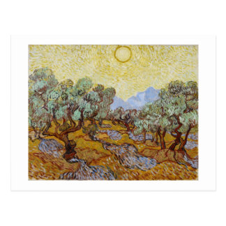 Olive Trees, 1889 (oil on canvas) Post Card