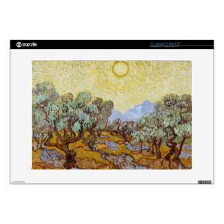 """Olive Trees, 1889 (oil on canvas) 15"""" Laptop Decals"""