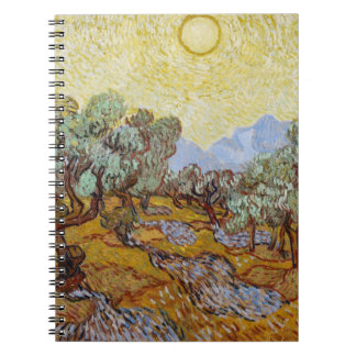 Olive Trees, 1889 (oil on canvas) Spiral Notebook