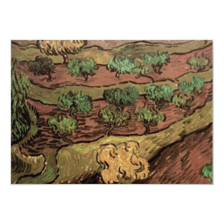 Olive Trees against a Slope of a Hill by van Gogh Card