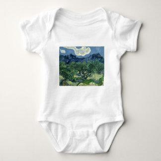 Olive Trees by Van Gogh Baby Bodysuit
