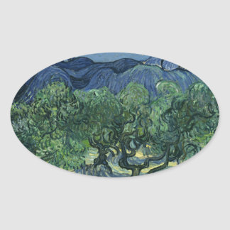 Olive Trees by Van Gogh Oval Sticker