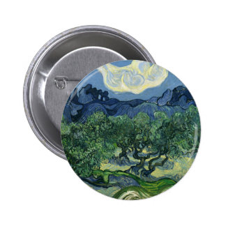 Olive Trees by Van Gogh Pinback Button