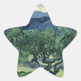 Olive Trees by Van Gogh Star Sticker