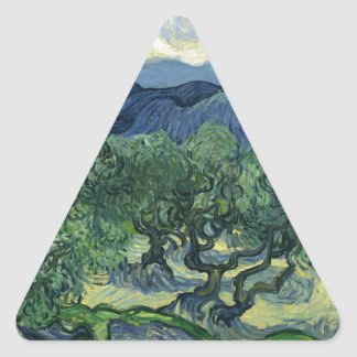 Olive Trees by Van Gogh Triangle Sticker