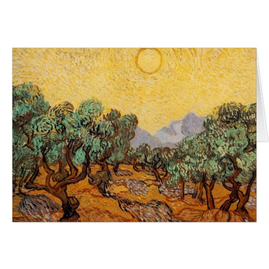 Olive Trees Card