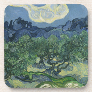 Olive Trees Cork Coaster