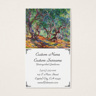 Olive Trees in Bordighera, 1884 Claude Monet Business Card