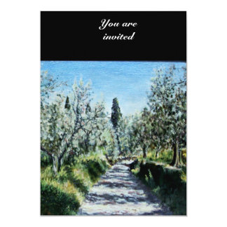 OLIVE TREES IN FLORENCE PERSONALIZED INVITE