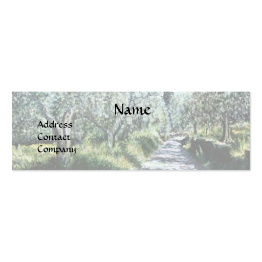 OLIVE TREES IN RIMAGGIO black green white blue Business Cards