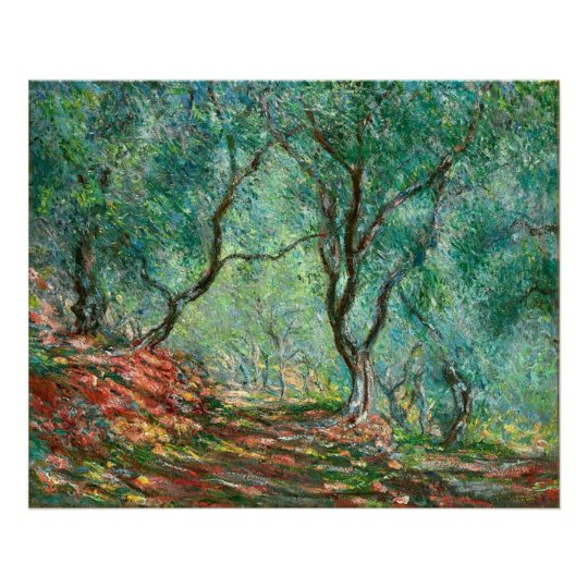 Olive Trees in the Garden Poster