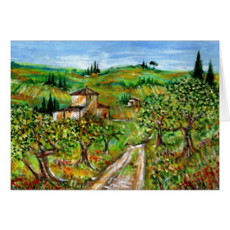 OLIVE TREES IN TUSCANY 2 CARDS