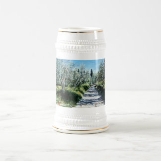 OLIVE TREES IN TUSCANY BEER STEIN