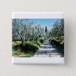 OLIVE TREES IN TUSCANY BUTTON