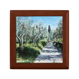 OLIVE TREES IN TUSCANY KEEPSAKE BOX