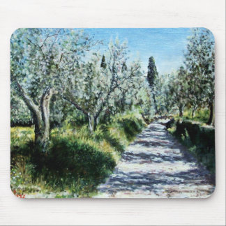 OLIVE TREES IN TUSCANY MOUSE PAD
