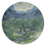 Olive Trees Plate