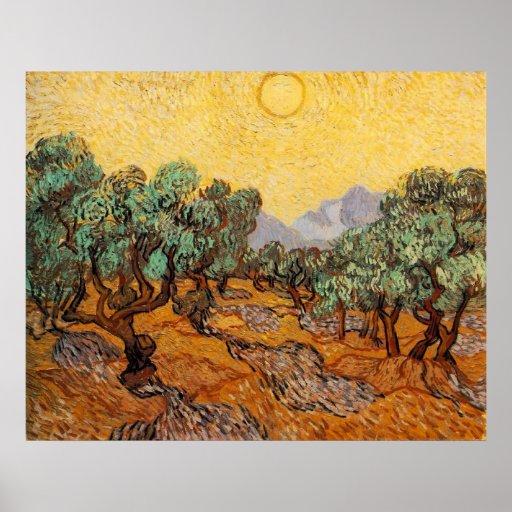 Olive Trees Print