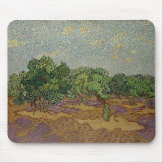 Olive Trees - Vincent van Gogh Mouse Pad