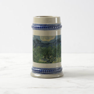 Olive Trees with the Alpilles in the Background 18 Oz Beer Stein
