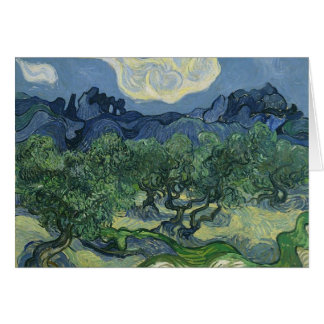 Olive Trees with the Alpilles in the Background Card