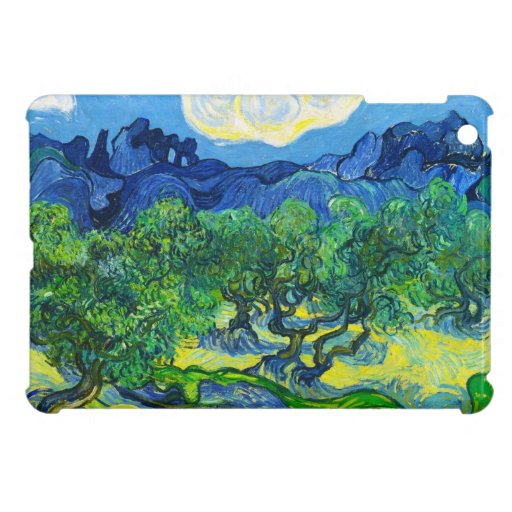 Olive Trees with the Alpilles in the Background iPad Mini Covers