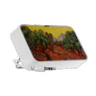 Olive Trees with Yellow Sky and Sun Laptop Speakers