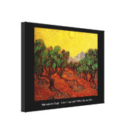 Olive Trees with Yellow Sky and Sun, van Gogh Canvas Prints