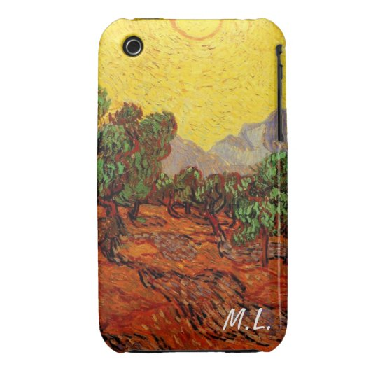 Olive Trees with Yellow Sky and Sun, van Gogh Case-Mate iPhone 3 Case