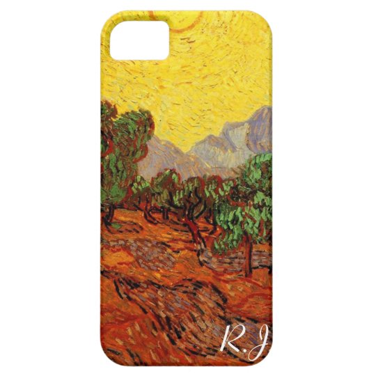 Olive Trees with Yellow Sky and Sun, van Gogh iPhone SE/5/5s Case