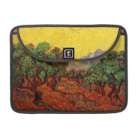 Olive Trees with Yellow Sky and Sun, van Gogh Sleeves For MacBooks