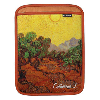 Olive Trees with Yellow Sky and Sun, van Gogh Sleeve For iPads