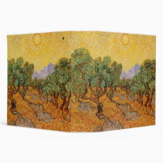 Olive Trees Yellow Sky and Sun Vincent van Gogh Vinyl Binders