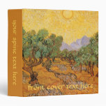 Olive Trees, Yellow Sky and Sun, Vincent van Gogh Binders