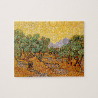 Olive Trees, Yellow Sky and Sun, Vincent van Gogh Jigsaw Puzzle