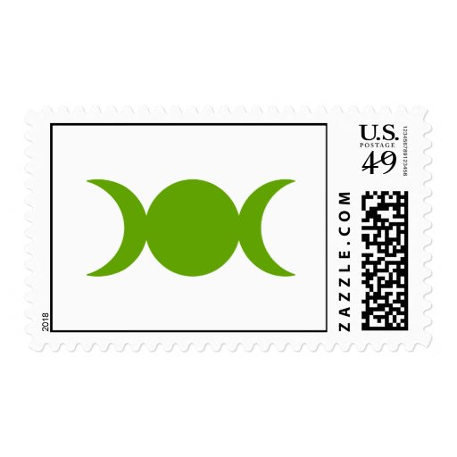 Olive Triple Goddess Postage Stamp