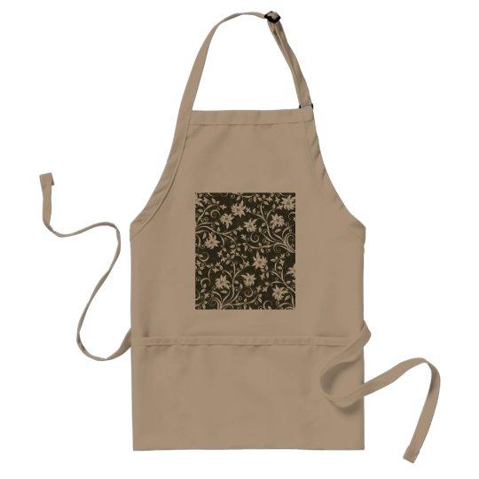 Olive Trumpetflower Floral Pattern Adult Apron