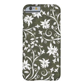 Olive Trumpetflower Floral Pattern Barely There iPhone 6 Case