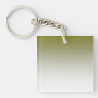 Olive White Ombre Keychain